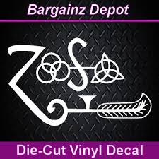 2 Of 5 To 20 Led Zeppelin Zoso A Artist Car Sticker Decals Bumper Die Cut