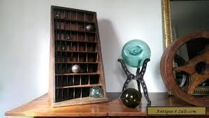oak letterpress furniture cabinet