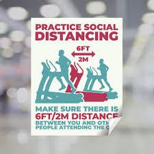 Gym Practice Social Distancing Window Decal Plum Grove