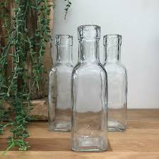 glass bottles small bud vase