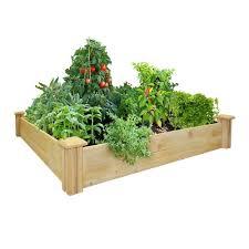 Greenes Fence 4 Ft X 4 Ft X 7 In Original Cedar Raised Garden Bed Rc 4c4 The Home De In 2020 Cedar Raised Garden Beds Raised Garden Kits Vegetable Garden Raised Beds