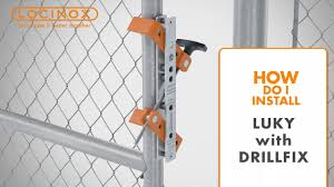Luky Gate Lock On Chain Link Gate With Drill Fix Drilling Jig Locinox Installation Video Youtube