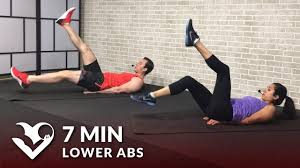 7 min lower ab workout for women men