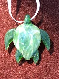 glass act s pendant collection sea turtle