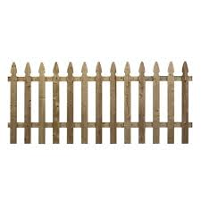 Unbranded 3 5 Ft X 8 Ft Pressure Treated Pine French Gothic Fence Panel 73000129 The Home Depot