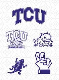 Tcu Horned Frogs Sports Team Logo Collection Svg Dxf And Ai Vector Files For Use With Cricut Or Silhouette Vinyl Cutt Tcu Horned Frogs Frog Logo Horned Frogs
