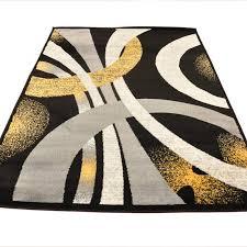 dehn lopped gray yellow area rug