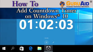 countdown timer on windows 10