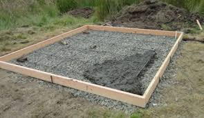 cost to build a concrete shed base