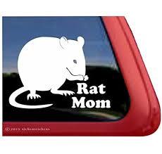 Amazon Com Rat Mom Pet Rat Window Decal Sticker Automotive