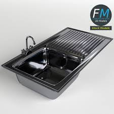 3d model kitchen sink with drainboard