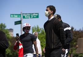 Ohio State's Seth Towns gives impassioned speech at Columbus protests -  News - Buckeyextra - Columbus, OH