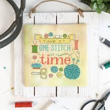 modern cross stitch quote one stitch at a time pdf chart tiny