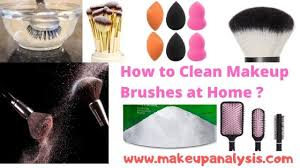 how to clean makeup brushes at home