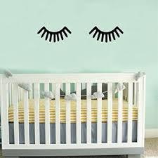 Pulse Vinyl Small Children Baby Room Sleeping Eye Eyelash Vinyl Wall Art Decal 3 7 X 7 8 Decoration Vinyl Sticker Black