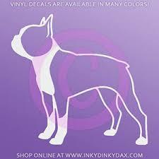 Boston Terrier Profile Silhouette Decal Sew Dog Crazy