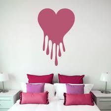 Heart Wall Decals Gold Love Art Black Pink Vinyl Mirror Canada Vamosrayos