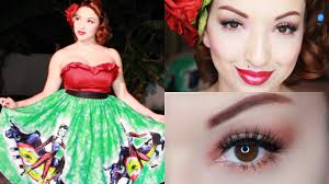 spanish love makeup tutorial outfit