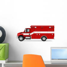 Ambulance Emergency Fire Truck Wall Decal Wallmonkeys Peel And Stick Decals For Boys 18 In W X 11 In H Wm502704 Walmart Com Walmart Com