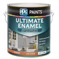 Ppg Paints White Low Sheen Ultimate Enamel Paint 4l Bunnings Warehouse