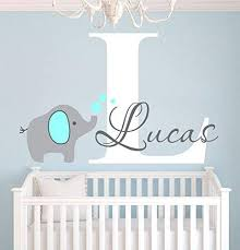 Home Kitchen Lilithcroft99 Elephant Name Wall Decal Vinyl Decals Sticker Custom Name Decals Personalised Baby Girl Name Elephant Decor Nursery Baby Room Art Decor Wall Decor Brigs Com