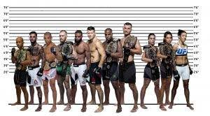 all ufc chions based on height a
