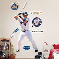 Fathead 42 In X 92 In David Wright New York Mets Wall Decal 1732504791