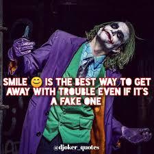 ▷ djoker quotes joker quotes fake smile ☺ follow
