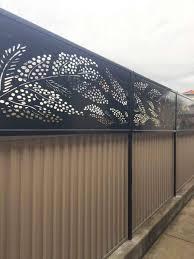 Landscape Privacy Screens Iron Bark Metal Design