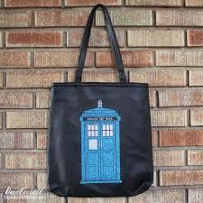 doctor who tardis glitter iron on faux