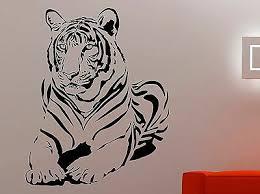 Tiger Wall Decal Wildcat Vinyl Sticker Wildlife Art Room Bedroom Animal Decor 1e Ebay
