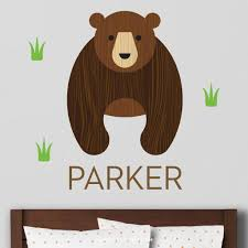 Bear Wall Decal Personalized Maxwill Studio