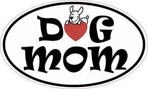 5in X 3in Oval Dog Mom Sticker Cup Tumbler Decal Car Window Bumper Decal Stickertalk