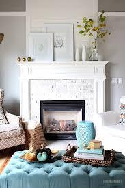 decorating a fireplace mantel