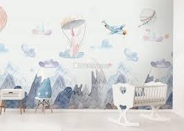 cute bunny wallpaper mural