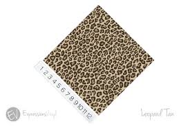 12 X12 Permanent Patterned Vinyl Leopard Tan Expressions Vinyl