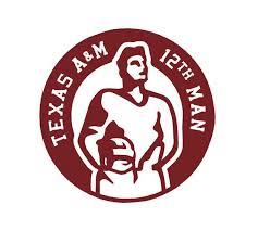 Texas A M Aggies 12th Man Decal Sticker Car Decal Texas A M Texas Aggies