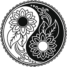 Amazon Com Ew Designs Sunflower Daisy Ying Yang Icon Vinyl Decal Bumper Sticker 4 Wide Automotive