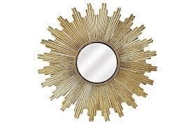 soleil sunburst wall mirror gold