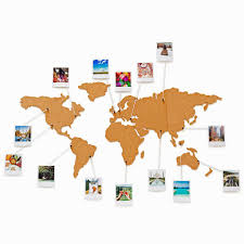 Corkboard World Map Foodie Voyage