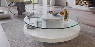 Couchtisch Weiß Glas Rund
