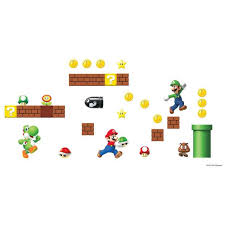 Nintendo Super Mario Bros Build A Scene Wall Decals Us Wall Decor