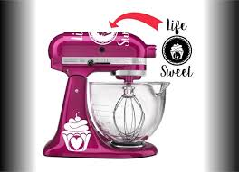 Life Is Sweet Vinyl Decal Set For Kitchenaid Mixers And More Azvinylworks
