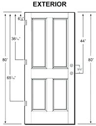 standard exterior door size wps refund me