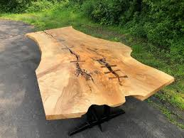 live edge ash dining table george