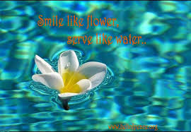 smile like flower serve like water bell of peace