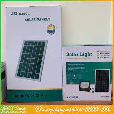 Đèn Led năng lượng mặt trời JD 8300L-300w phiên bản nâng cấp không dùng  điện,chống nước IP67 Tặng kèm dây nối 5 mét