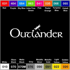 Outlander Vinyl Decal Sticker Window Car Dragonfly Adventure Outdoors Auto Parts And Vehicles Car Truck Graphics Decals Magenta Cl