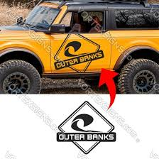 Outer Banks Logo Door Decal Decals Stickers Ford Bronco