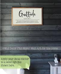 Wall Decal Sticker Gratitude Definition Vinyl Art Wall Words Lettering